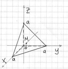 Тетраэдр и его центр тяжести
